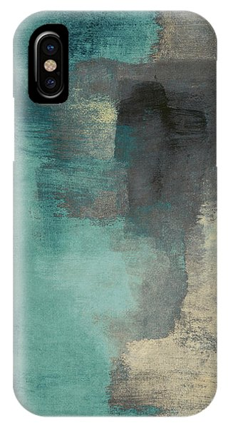 City Scenes iPhone Case - Downtown Blue Rain I by Lanie Loreth