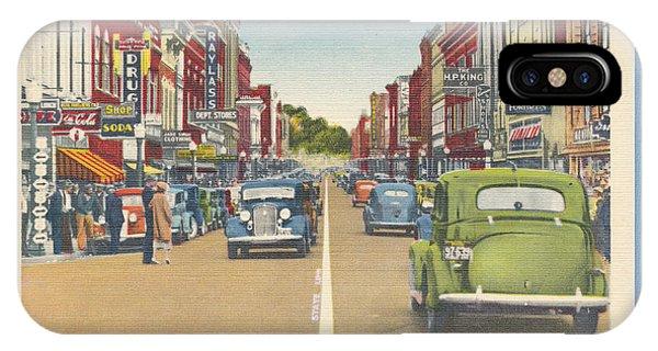 Downtown Bristol Va Tn 1930 - 40 IPhone Case