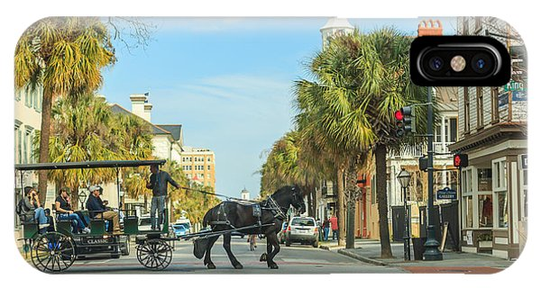 Downtown Charleston Stroll IPhone Case