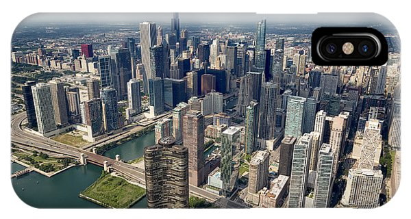 Downtown Chicago Aerial IPhone Case