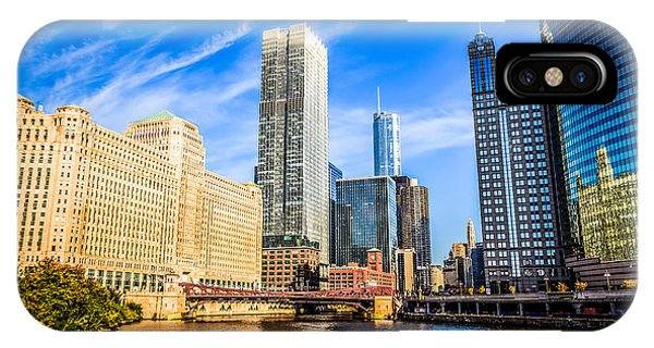 Downtown Chicago At Franklin Street Bridge Picture IPhone Case