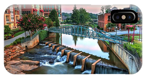 Downtown Greenville On The River IPhone Case