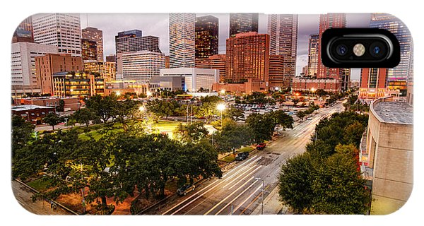 Downtown Houston Skyline During Twilight IPhone Case