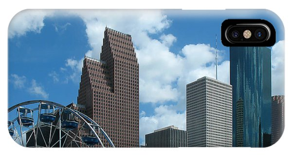Downtown Houston With Ferris Wheel IPhone Case