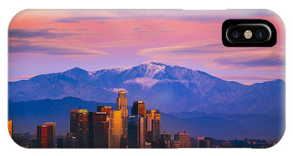 Downtown Los Angeles After Sunset IPhone Case