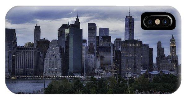 Downtown Manhattan From Brooklyn Bridge Park Phone Case by E Osmanoglu
