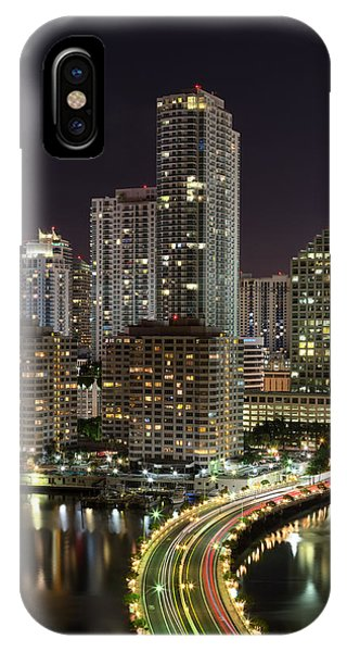 Downtown Miami From Brickell Key IPhone Case