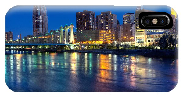 Downtown Minneapolis Skyline Hennepin Avenue Bridge IPhone Case