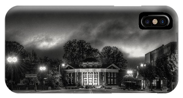 Downtown Murphy Nc In Black And White IPhone Case
