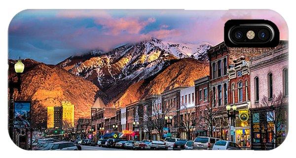 Downtown Ogden Utah IPhone Case