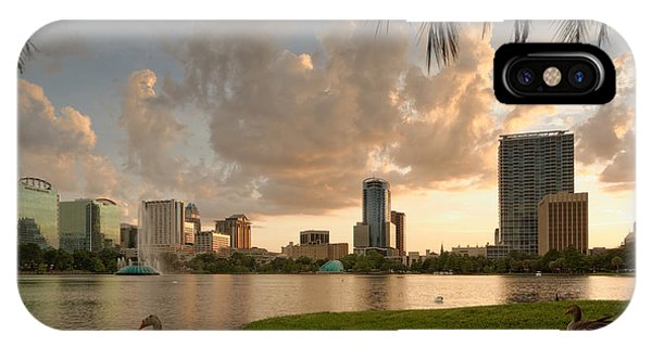 Downtown Orlando Skyline Lake Eola Sunset IPhone Case