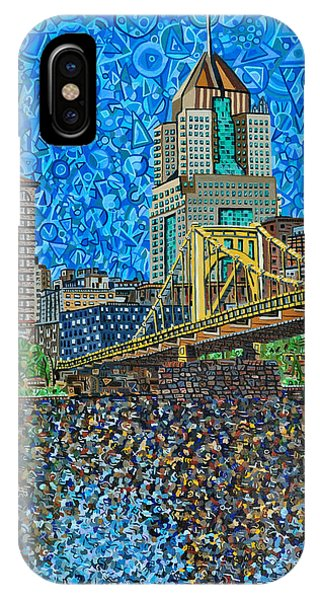 Downtown Pittsburgh - Roberto Clemente Bridge Phone Case by Micah Mullen