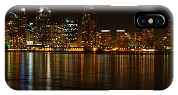 Downtown San Diego At Night From Harbor Drive IPhone Case