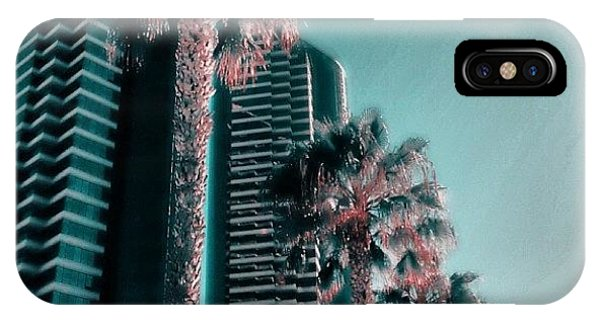 City Scape iPhone Case - Downtown San Diego In Technicolor by Go Inspire Beauty