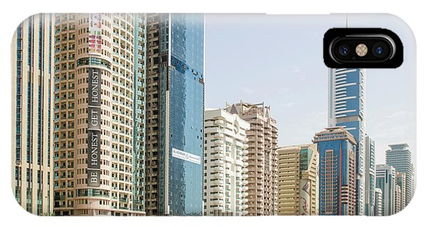 Condo iPhone Case - Downtown Skyline Of Dubai, United Arab by Michael Defreitas