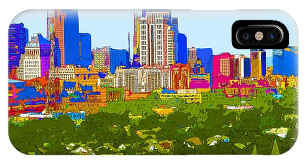 Downtown St. Louis From The Southwest Abstract IPhone Case