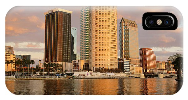 Downtown Tampa At Dusk On Hillsborough River IPhone Case