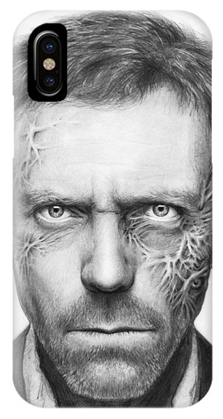 Celebrities iPhone Case - Dr. Gregory House - House Md by Olga Shvartsur