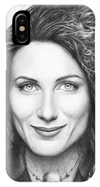 Graphite iPhone Case - Dr. Lisa Cuddy - House Md by Olga Shvartsur