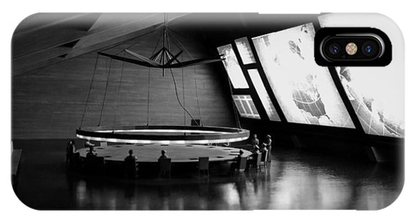 IPhone Case featuring the photograph Dr. Strangelove - Command Center by Michael Hope