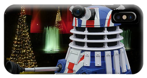 IPhone Case featuring the photograph Dr Who - Dalek Christmas by Richard Reeve