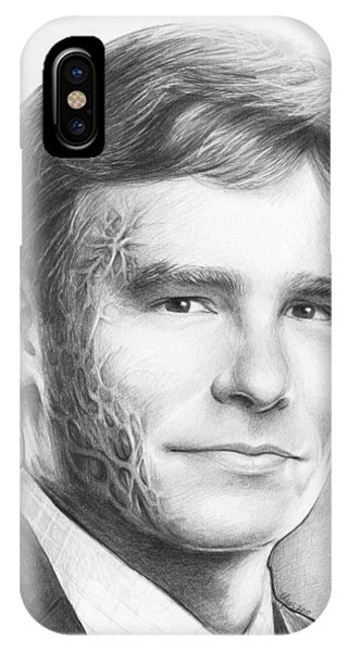 Graphite iPhone Case - Dr. Wilson - House Md by Olga Shvartsur