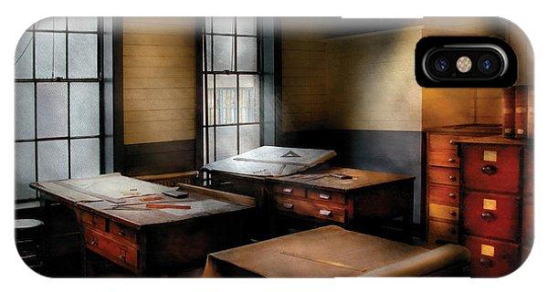 Savad iPhone Case - Draftsman - The Drafting Room by Mike Savad