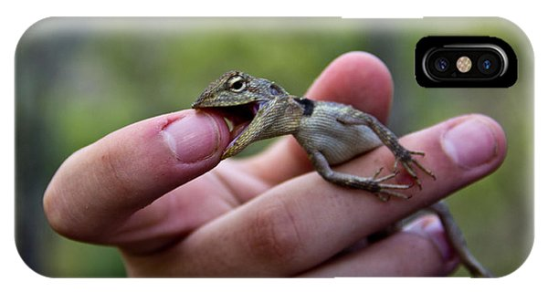 IPhone Case featuring the photograph Dragon Biting Back by Debbie Cundy