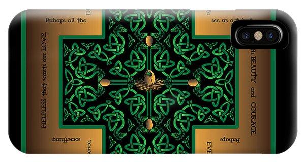 Dragon Egg Celtic Cross IPhone Case