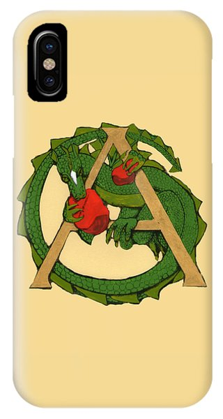 Dragon Letter A IPhone Case