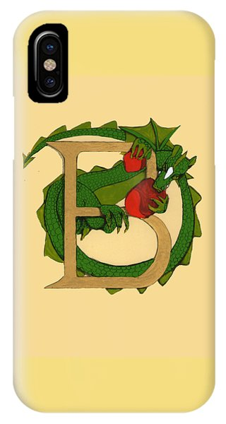 Dragon Letter B IPhone Case
