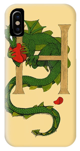 Dragon Letter H IPhone Case