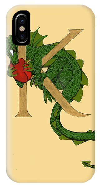 Dragon Letter K IPhone Case