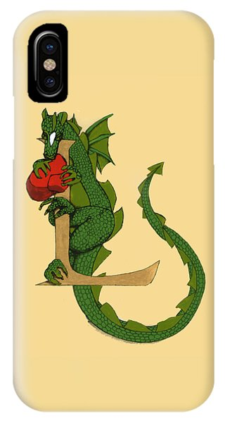 Dragon Letter L IPhone Case