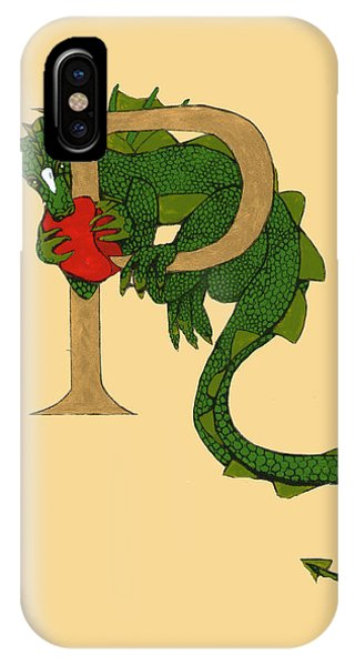 Dragon Letter P IPhone Case