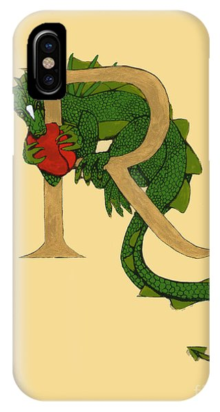 Dragon Letter R IPhone Case