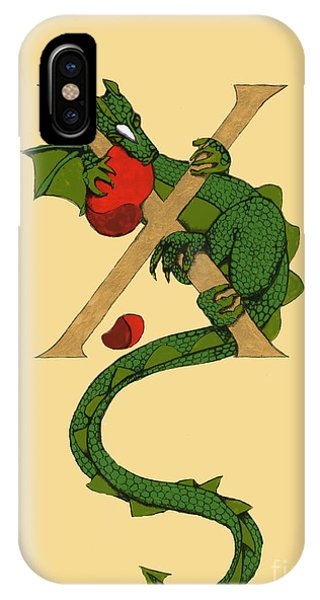 Dragon Letter X IPhone Case