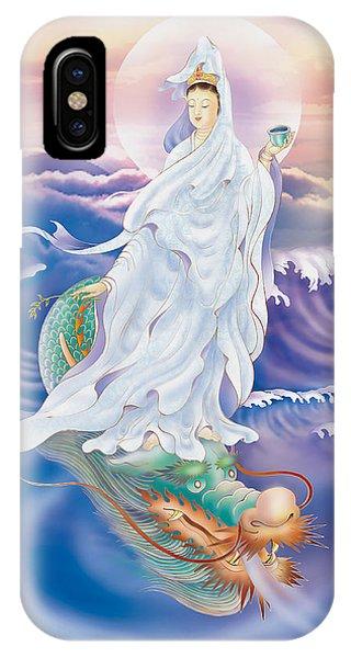 Dragon-riding Avalokitesvara  IPhone Case