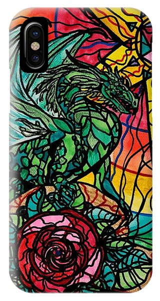 Dragon iPhone Case - Dragon by Teal Eye  Print Store