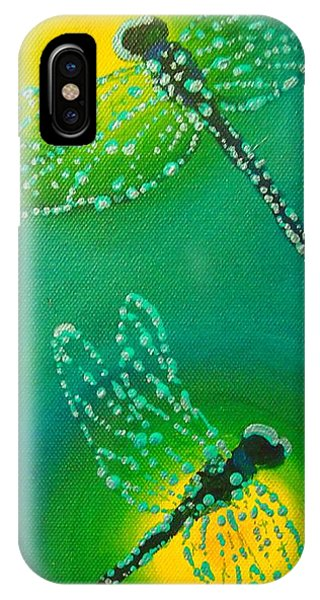 Dragonflies Adorned With Morning Dew IPhone Case