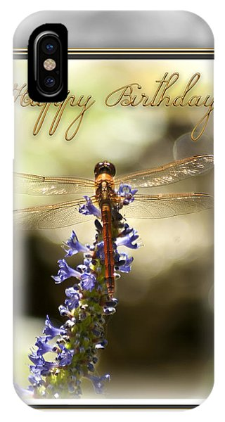 Dragonfly Birthday Card IPhone Case