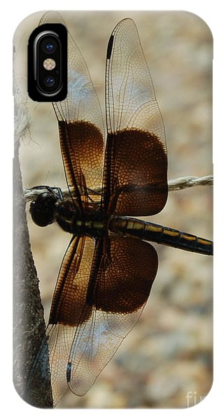 Dragonfly Brown IPhone Case