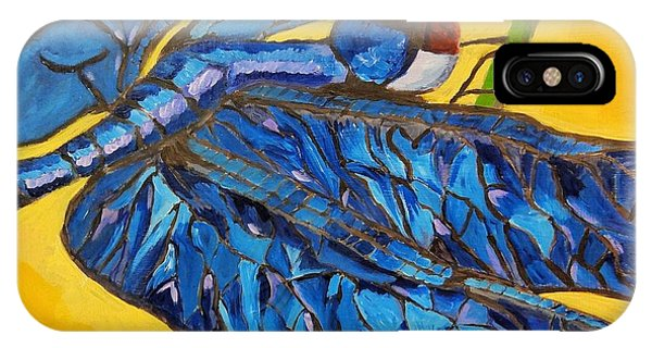 Dragonfly In Blue IPhone Case