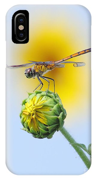 Nikon iPhone Case - Dragonfly In Sunflowers by Robert Frederick