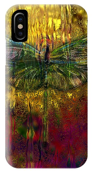 Illusion iPhone Case - Dragonfly - Rainy Day  by Jack Zulli