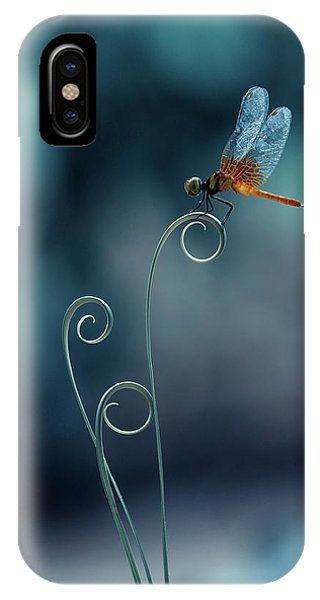 Macro iPhone Case - Dragonfly by Ridho Arifuddin
