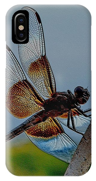 IPhone Case featuring the digital art Dragonfly Sky Print by Visual Artist Frank Bonilla