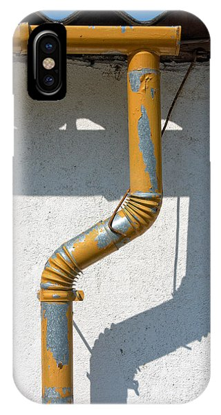 Drainpipe White Structured Wall  IPhone Case