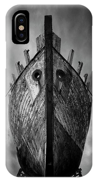 Docked Boats iPhone Case - Drakkar by Sebastien Del Grosso