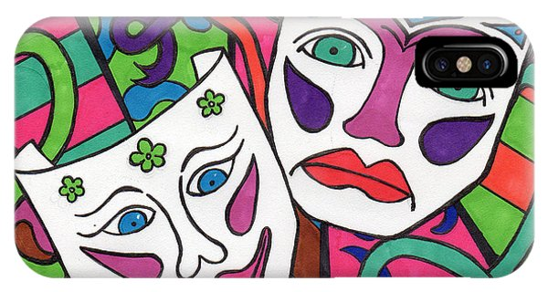 Drama Masks IPhone Case